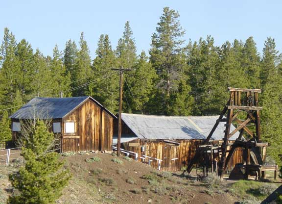 "Another view of the Matchless Mine, featuring the ""Baby Doe cabin"". Photo courtesy Plazak (URL: https://en.wikipedia.org/wiki/Matchless_Mine#/media/File:Matchless_mine.jpg)."