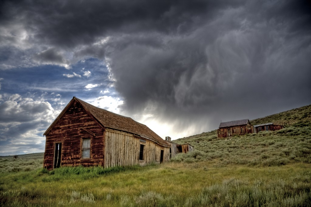 Taken on a stormy day at the Bodie Historic State Park.